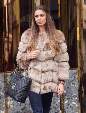 Haina Blana Snow Bej marca Chic Diva pentru femei