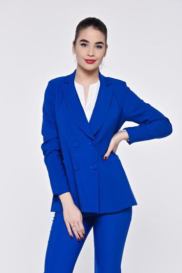 Sacou albastru de dama elegant pentru office sau ocazie din stofa fina la atingere Artista