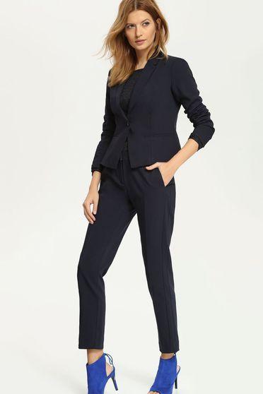 Sacou dama office elegant bleumarin cu maneci lungi Top Secret S020297 DarkBlue