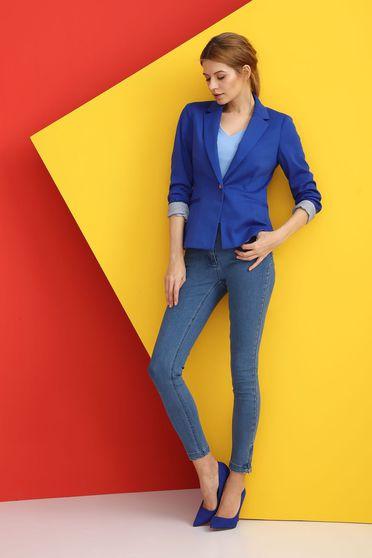 Sacou de ocazie elegant pentru dama de culoarea albastra Top Secret S027740 Blue