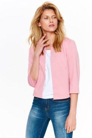 Sacou dama roz elegant tip bolero din material fin la atingere Top Secret