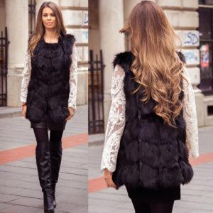 Vesta Blana Snow Black marca Chic Diva pentru femei