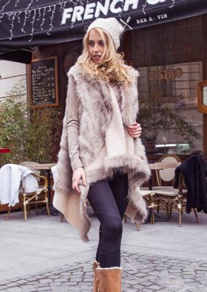 Vesta blana Aria Cafe marca Chic Diva pentru femei