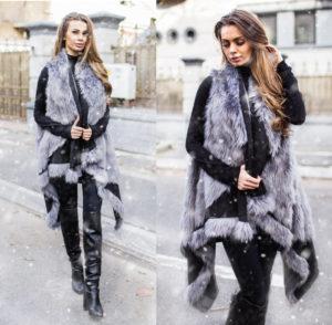 Vesta blana Aria Gri marca Chic Diva pentru femei