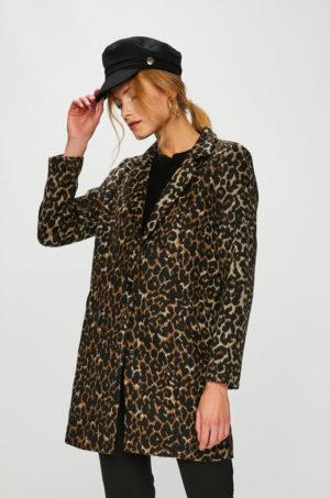 Palton cu imprimeu animal print de dama elegant de ocazie din tesatura ornamentata Answear Animal me