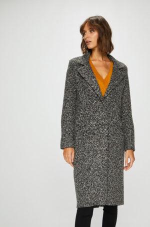 Palton oversize gri elegant lung pana la genunchi fara captuseala pe interior Answear Femifesto