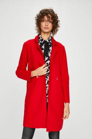 Palton elegant rosu scurt cu croiala dreapta si buzunare interioare ce se inchide cu nasturi Medicine Secret Garden