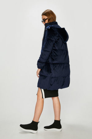 Palton bleumarin cu gluga foarte elegant si calduros cu captuseala pe interior Medicine Vintage Revival