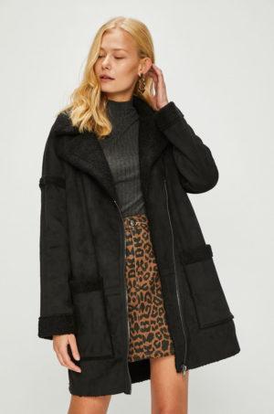 Palton negru supradimensionat captusit pe interior cu Linia umerilor lasata Only Felicity