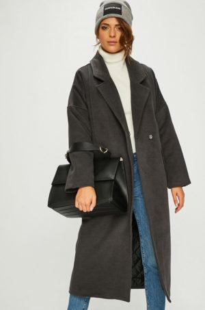 Palton gri lung de dama lejer si confortabil cu captuseala pe interior pentru toamna iarna Review