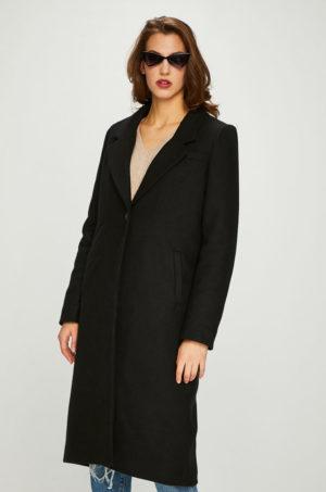 Palton dama lun elegant negru din lana de calitate superioara ce tine de cald in zilele geroase Review