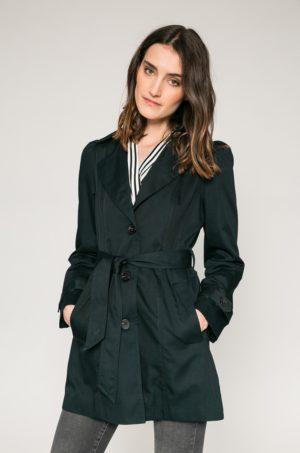 Palton scurt pe talie bleumarin confectionat din material neted cu curea in talie Vero Moda