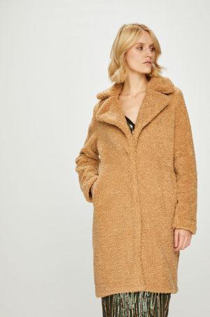 Palton dama bej oversize cu captuseala si Incheiere cu cleme pentru ocazie sau seara Vero Moda