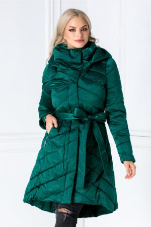 Geaca Ellen lunga verde